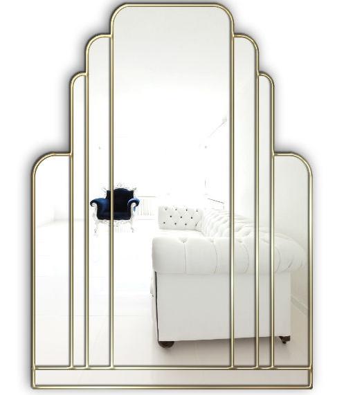 Manhattan Original Handcrafted Art Deco Wall Mirror With Silver Trim Bespoke Mirrors Art Deco Mirrors Custom Made Mirrors