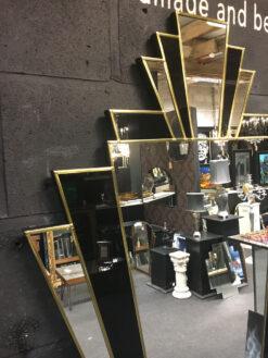 Babushka fan art deco detail wall mirror