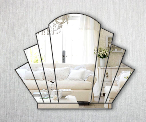 gatsby art deco over mantle fan wall mirror