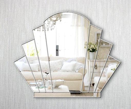 gatsby art deco over mantle fan wall mirror
