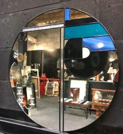 Hermes art deco frank lloyd wright round wall mirror