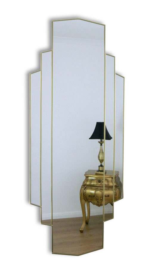 metro art deco full length mirror
