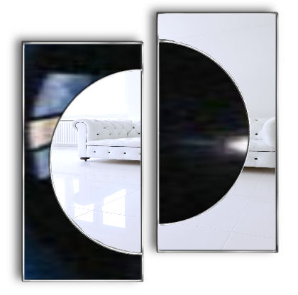 Moonlight artistic wall mirror