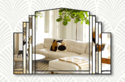 Serenity clear with black trim wall mirror