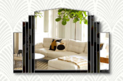 Serenity black silver trim wall mirror