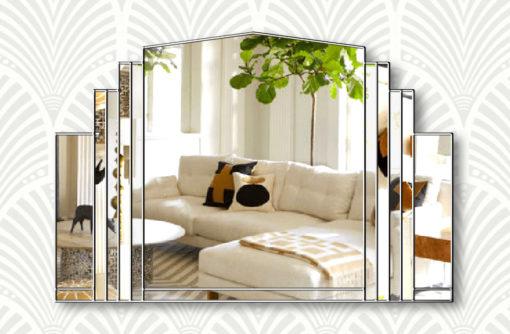 Serenity clear silver trim wall mirror
