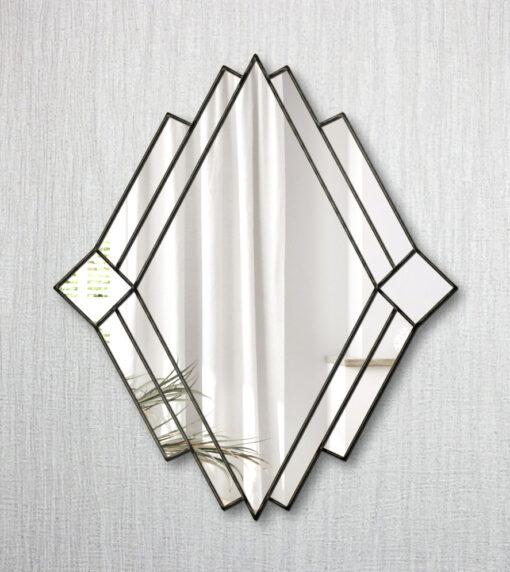 t Moritz black ebony art deco wall mirror
