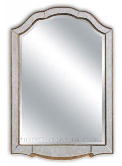 Sherlock Antiqued Glass Venetian Overmantle Mirror -0