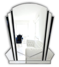 verona art deco wall mirror