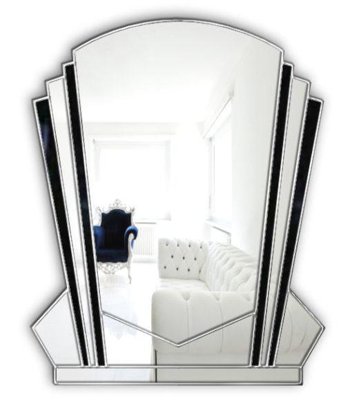 verona art deco wall mirror