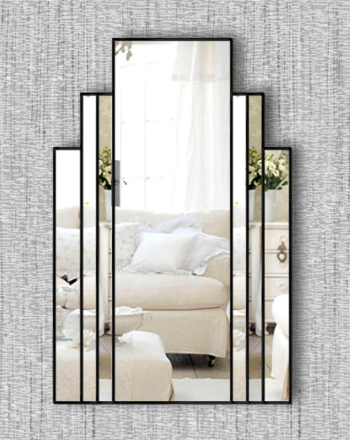 brooklyn black art deco wall mirror