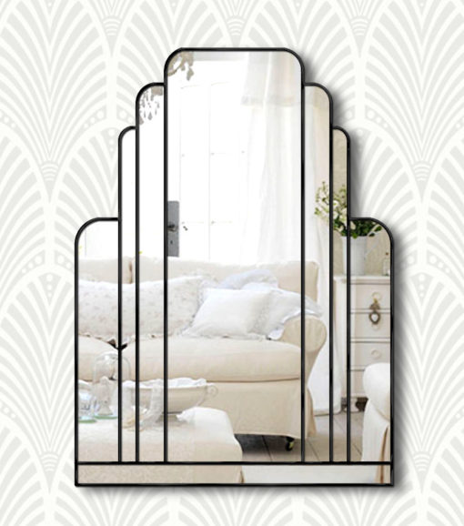 manhattan black art deco mirror