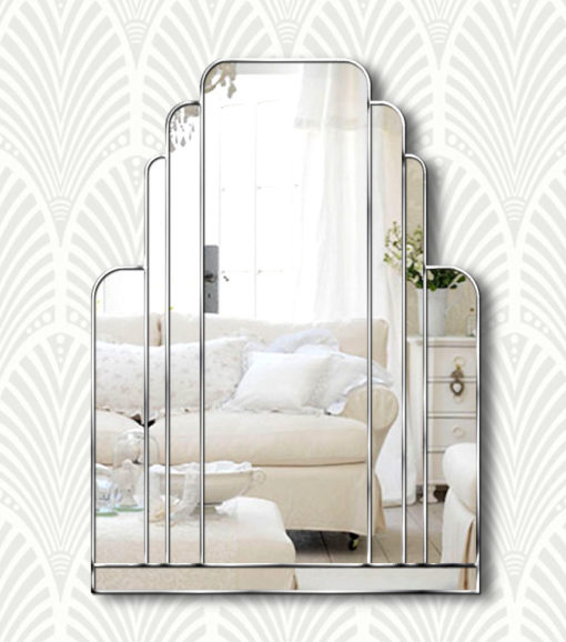 manhattan silver art deco mirror