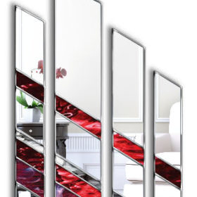 Adelphi Original Handcrafted 4 piece Artistic Wall Mirror