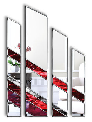 Adelphi Original Handcrafted 4 piece Artistic Wall Mirror
