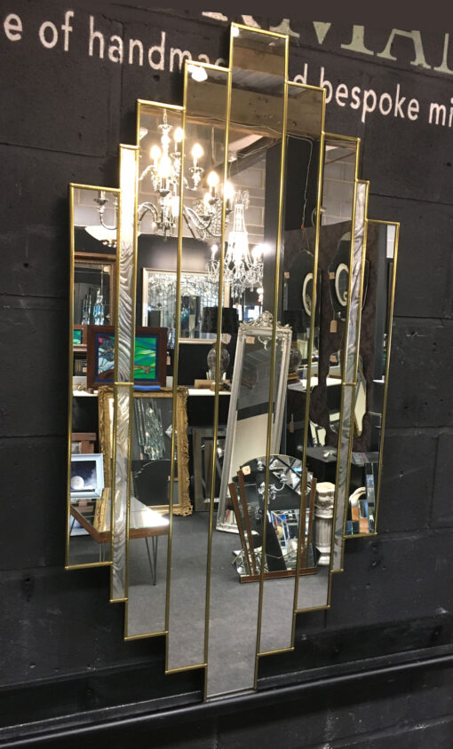 romance art deco wall mirror