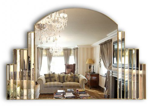 simone over mantle gold wall mirror