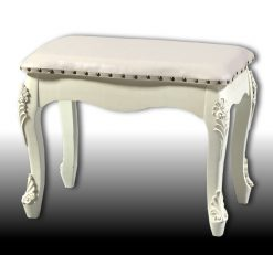 Marian - Large Cream French Style Dressing Table Stool-0