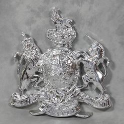 Silver Plated Coat Of Arms Wall Plaque-0