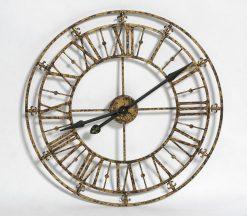 Skeleton Gold Metal Wall Clock-0
