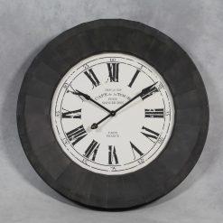 Cafe De La Tour Balck and White Metal Framed Wall Clock-0