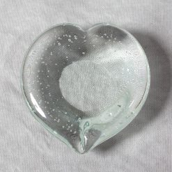 Carmen - Clear Glass Heart With Bubbles Table Decoration-0
