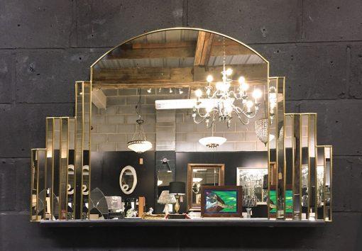 Simone Art Deco Wall Mirror