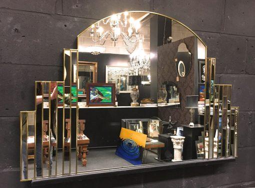 Simone Art Deco Wall Gold Mirror