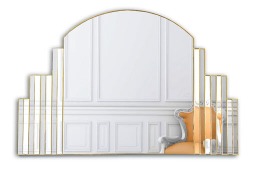 simone art deco over mantle wall mirror