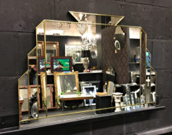 Clarence art deco wall mirror