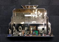 Edgar Silver art deco Showroom detail 1 wall mirror