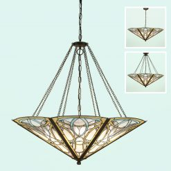 Dauphine Range Art Nouveau Tiffany Mega Ceiling Pendant-0