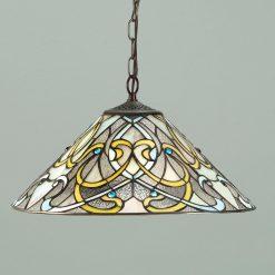 Dauphine Range Art Nouveau Tiffany Ceiling Pendant-0