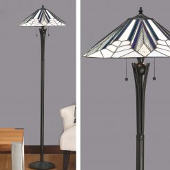 Astoria Range Art Deco Tiffany Floor Lamp-0