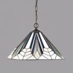 Astoria Range Art Deco Tiffany Ceiling Pendant-0