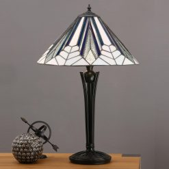 Astoria Range Art Deco Tiffany Table Lamp (Medium)-0