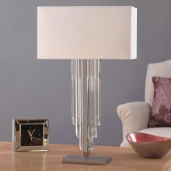 Art Deco Crystal Cascade Table Lamp-0