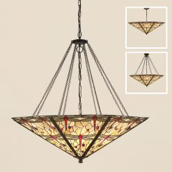 Dragonfly Tiffany Large Ceiling Pendant-0