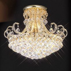 Pearl Gold Crystal Chandelier-0
