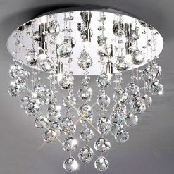 Colorado Circular Flush Crystal Ceiling Light-0
