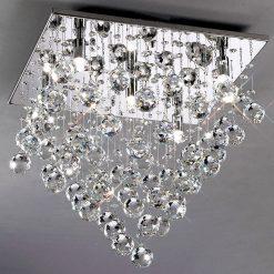 Colorado Square Flush Crystal Ceiling Light-0