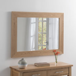wooden framed wall mirror
