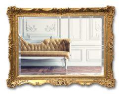 Warwick Handcrafted Swept Framed Mirror - Antique Gold-0