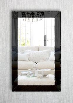 jessica modern black wall mirror