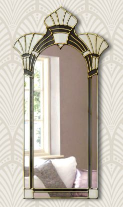 amelia art deco wall mirror