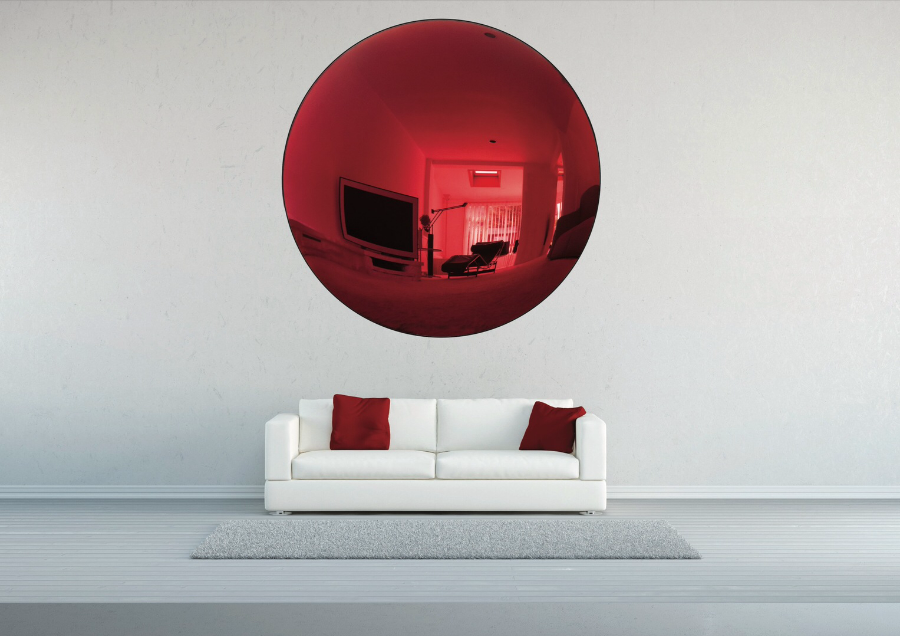 Deep Red Convex Mirror