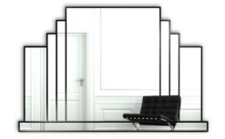 mayfair black art deco mirror