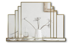 mayfair art deco wall mirror