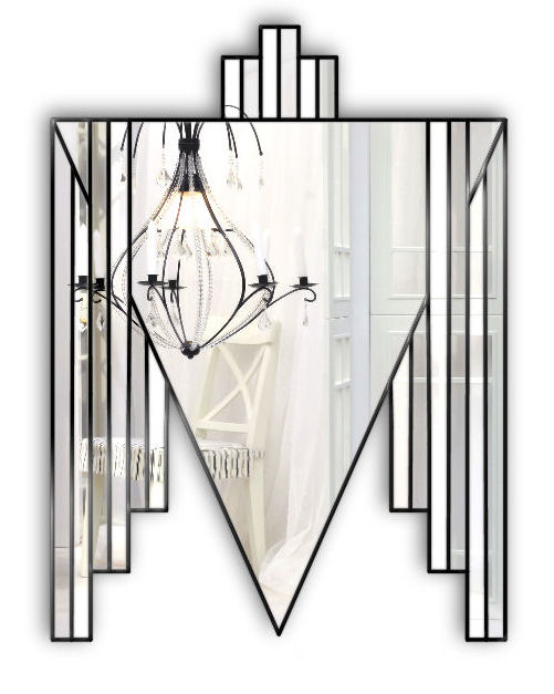 danube black art deco mirror