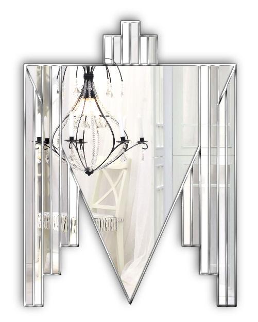 danube silver art deco mirror